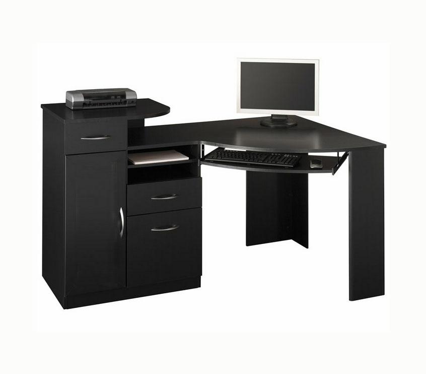 Письменный стол черного цвета