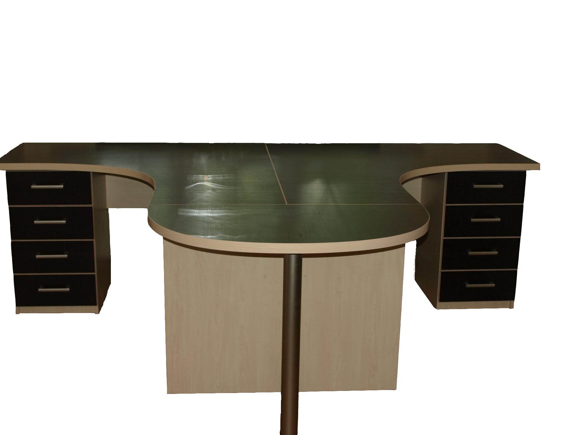 Эргономичный стол на два рабочих места ист-204 - купить в ин.